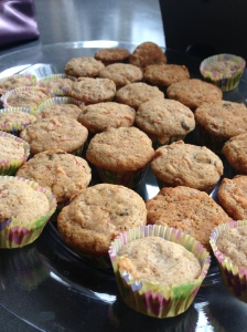 GF carrot spice muffins